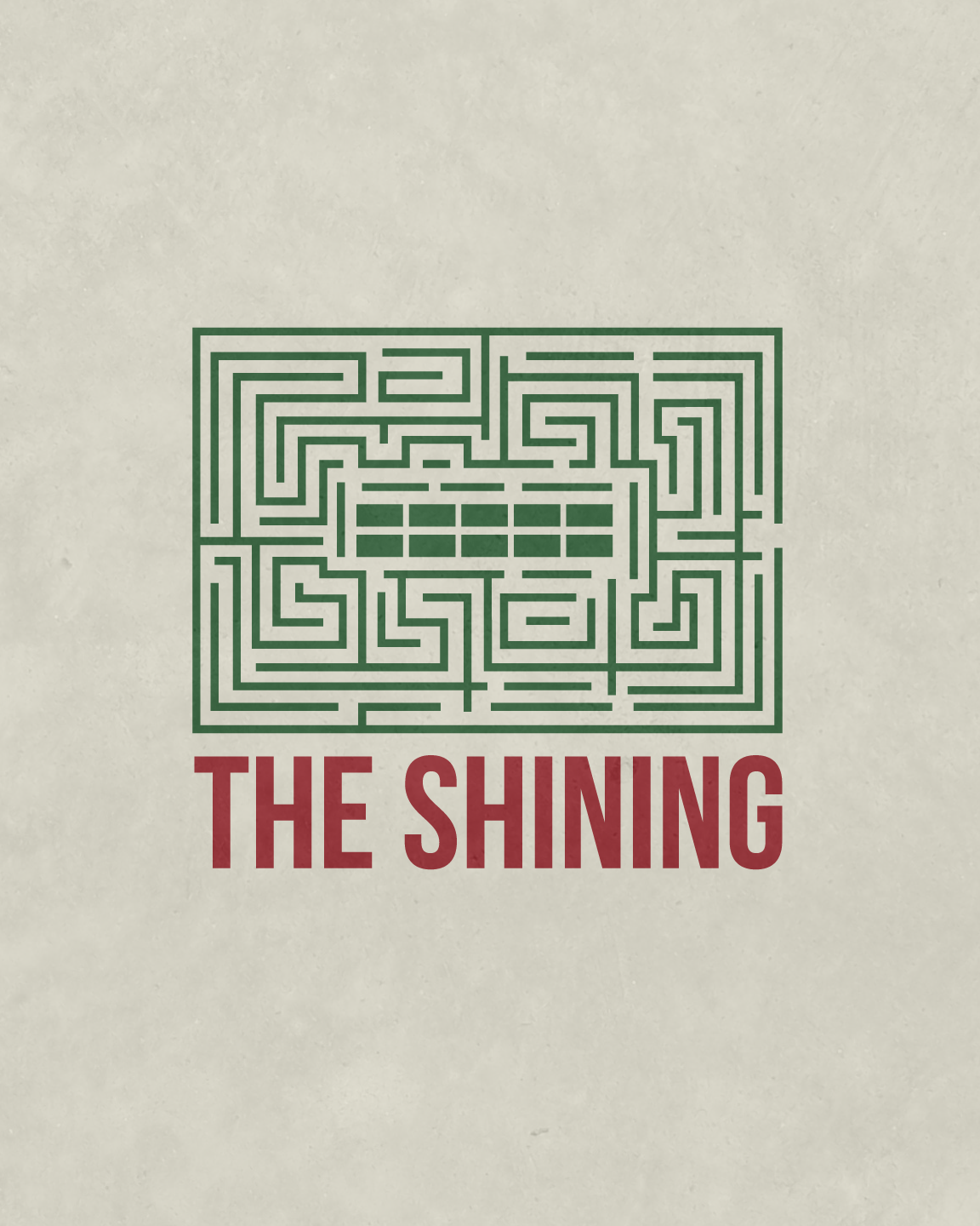 The Shining Minimalist Movie Poster | The Maze