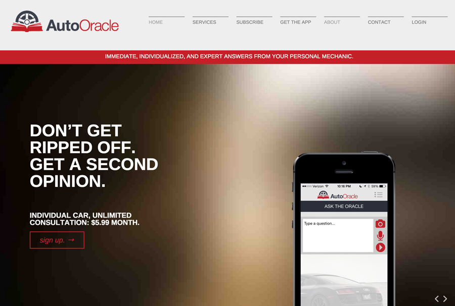 The Auto Oracle Website