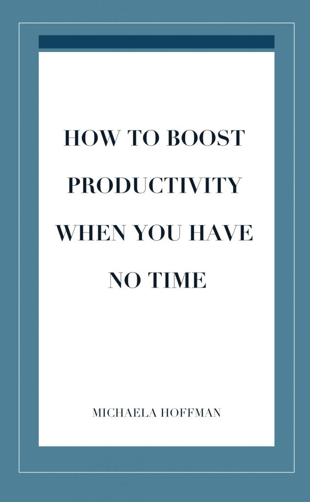 Finding time to get things done when our to do lists are never ending is exhausting. Here are 5 things you can do to boost your productivity even if you feel like you have no time to do so!