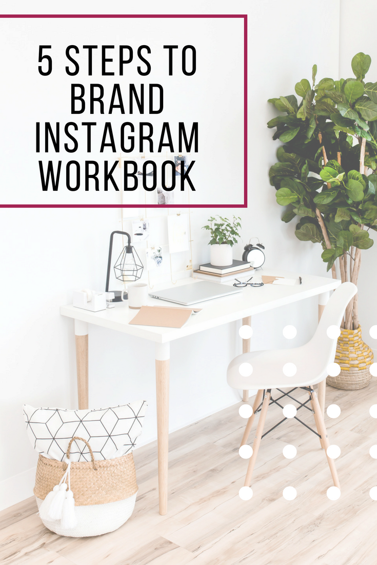 This workbook helps guide you through the steps of branding Instagram for your business, get to know the 5 basics so that you can stand out and connect with your ideal audience on this visual social media platform.