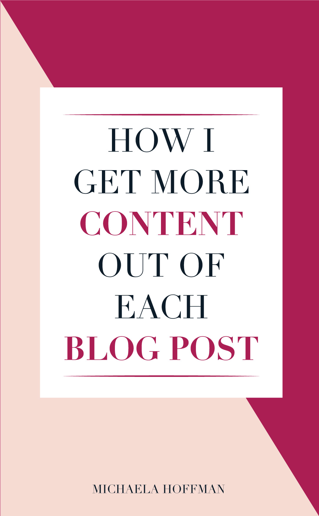 Do you hate creating content for your online business? Here is how I get more life out of my old blog posts without having to create new content and stress out about yet another thing I need to do to grow my online business