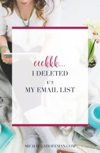 Does your email list growth feel stagnant? Does it feel like you get some you loose some but your email list numbers stay the same? Do you want to see more engagement with your email list? Try this...